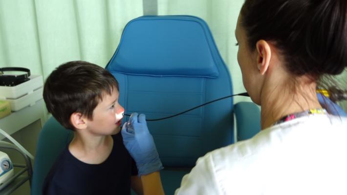 Videofibroscopie la Centrul de pediatrie