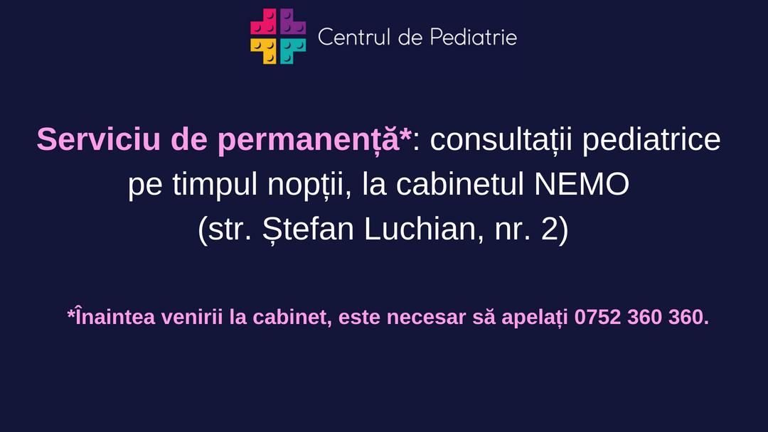 serviciu de permanenta centrul de pediatrie