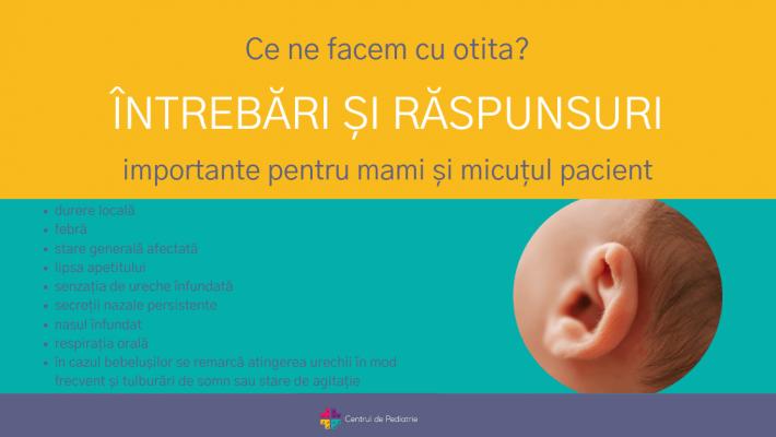 Ce ne facem cu otita? – întrebări și răspunsuri importante pentru mami și micuțul pacient